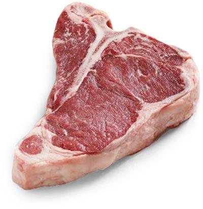 Fornitura carne per ristoranti: bovino adulto T-bone steak